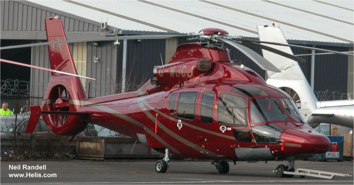 Helicopter Eurocopter EC155B1 Serial 6748 Register G-LCPX G-WINV G-WJCJ F-WWOO used by Starspeed Ltd ,Eurocopter France. Built 2006. Aircraft history and location