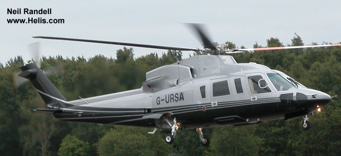 Helicopter Sikorsky S-76C Serial 760699 Register G-MRRI G-URSA G-URSS N2582J used by GB Helicopters ,Capital Air Services Ltd ,PremiAir Aviation Services. Built 2007. Aircraft history and location