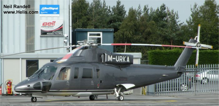 Helicopter Sikorsky S-76B Serial 760330 Register M-URKA N595JS N595ST N5AY VP-BNM. Built 1986. Aircraft history