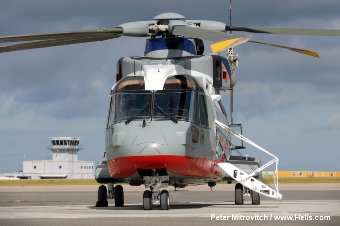 Helicopter AgustaWestland AW101 641 Serial 50243 Register ZR339 used by AgustaWestland UK. Aircraft history
