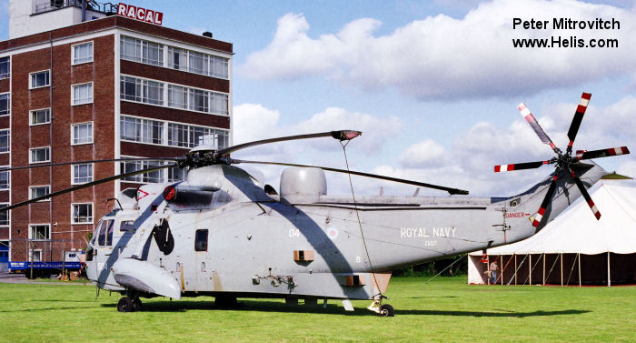 Helicopter Westland Sea King HAS.5 Serial wa 888 Register ZA127 used by Fleet Air Arm (Royal Navy). Built 1980. Aircraft history and location