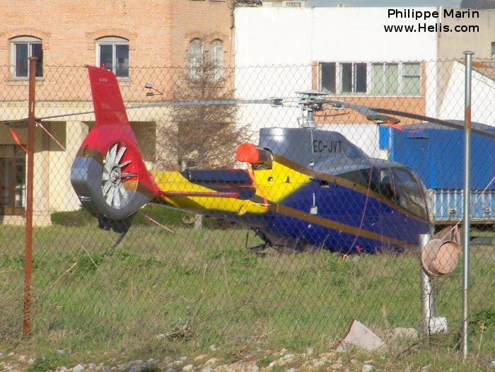 Helicopter Eurocopter EC130B4 Serial 4100 Register TG-HRP EC-JVT. Built 2006. Aircraft history and location