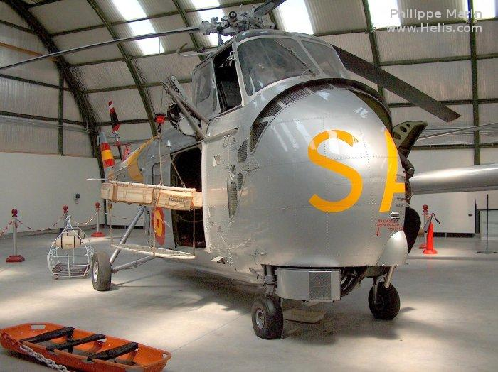Helicopter Westland Whirlwind SRS.2 Serial wa423 Register ZD.1B-22 used by Ejercito del Aire EdA (Spanish Air Force). Aircraft history and location