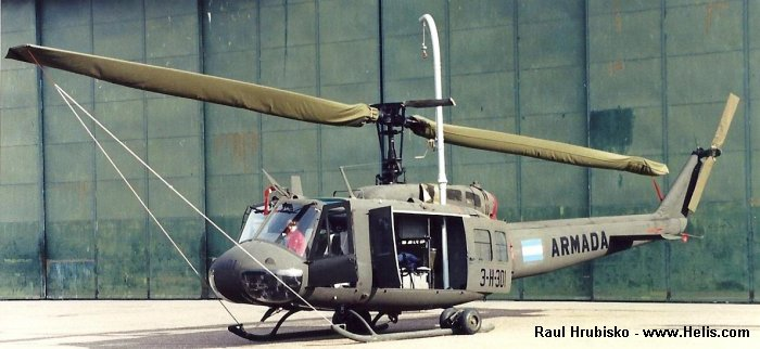 Helicopter Bell UH-1H Iroquois Serial 12221 Register 0873 69-15933 AE-493 used by Comando de Aviacion Naval Argentina (Argentine Navy) US Army Aviation Aviacion de Ejercito Argentino (Argentine Army Aviation). Aircraft history
