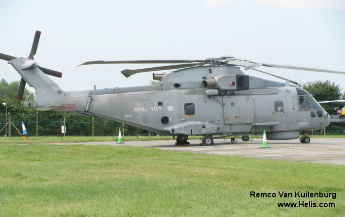 Helicopter AgustaWestland Merlin HM.1 Serial 50147 Register ZH856 used by Fleet Air Arm (Royal Navy). Built 2001. Aircraft history