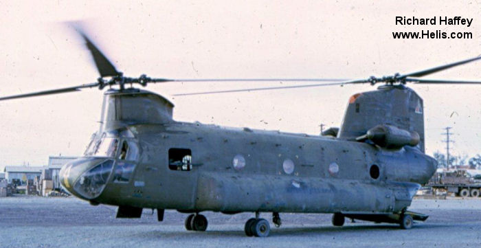 Chinook helicopter in Vietnam