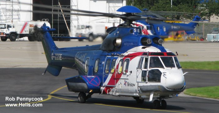 Helicopter Eurocopter EC225LP Serial 2660 Register G-ZZSE used by Bristow. Built 2006. Aircraft history and location