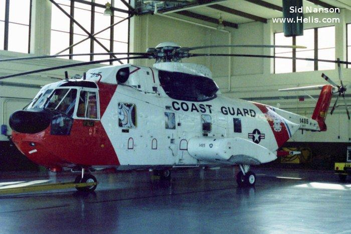 Helicopter Sikorsky HH-3F Pelican Serial 61-662 Register 1485 used by US Coast Guard. Aircraft history and location