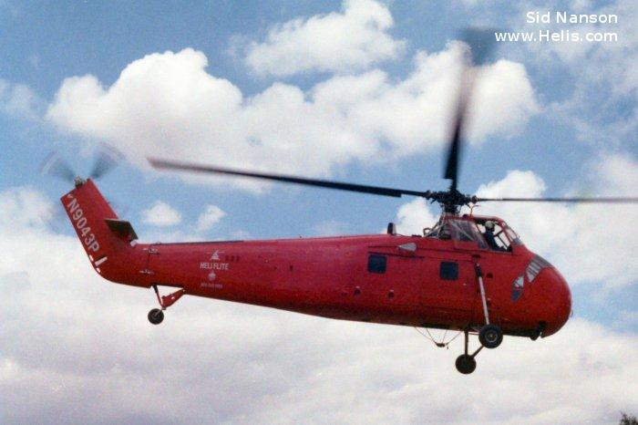 Helicopter Sikorsky HSS-1 / SH-34G Seabat Serial 58-12 Register N9043P 137856 used by US Navy (United States Naval Aviation). Built 1955. Aircraft history and location