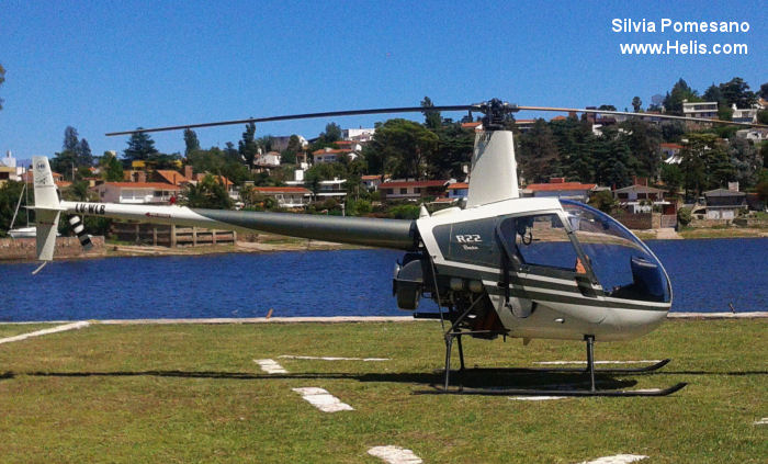 Helicopter Robinson R22 Beta Serial 2479 Register LV-WLB. Built 1994. Aircraft history and location
