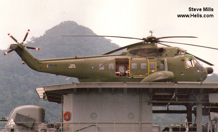 Helicopter Agusta AS-61N-1 Serial 6401 Register M39-01 I-RAIE used by Tentara Udara Diraja Malaysia RMAF (Royal Malaysian Air Force) ,Agusta Spa. Built 1992. Aircraft history and location