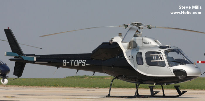 Helicopter Aerospatiale AS355F Ecureuil 2 Serial 5151 Register G-TOPS G-BPRH used by Sterling Helicopters. Built 1982. Aircraft history and location