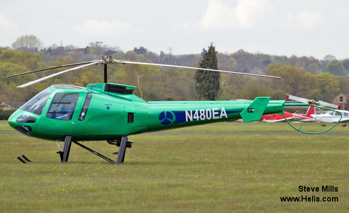 Helicopter Enstrom 480B Serial 5076 Register N480EA ZS-RCU. Built 2005. Aircraft history and location