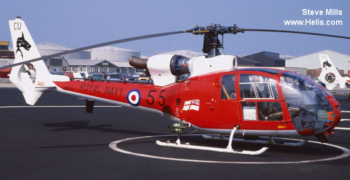 Helicopter Aerospatiale SA341C Gazelle HT.2 Serial 1081 Register G-CTFS G-OJCO G-LEDR G-CBSB XW857 used by London Helicopter Centres ,Fleet Air Arm RN (Royal Navy). Built 1973. Aircraft history and location