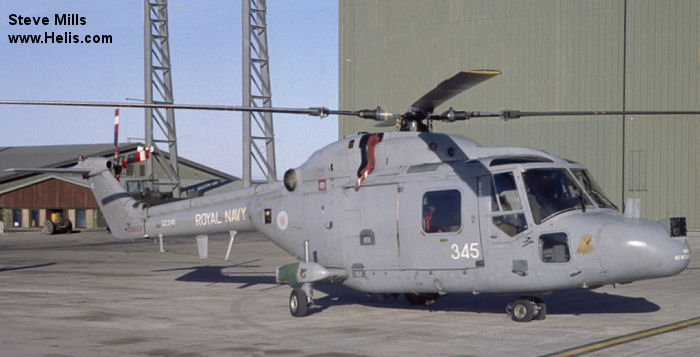 Helicopter Westland Lynx  HAS2 Serial 080 Register XZ248 used by Fleet Air Arm (Royal Navy). Built 1978. Aircraft history