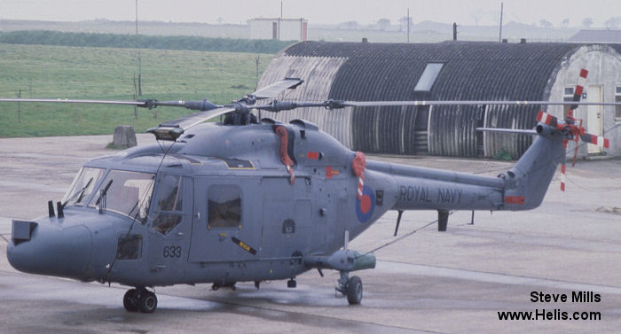 Helicopter Westland Lynx HAS3 Serial 316 Register ZD565 used by Fleet Air Arm (Royal Navy). Built 1985. Aircraft history