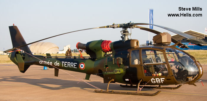 Helicopter Aerospatiale SA342M Gazelle Serial 2059 Register 4059 used by Aviation Légère de l'Armée de Terre (French Army Light Aviation). Aircraft history