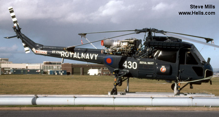 Helicopter Westland Wasp Serial f.9660 Register XT778 used by Fleet Air Arm (Royal Navy). Built 1966. Aircraft history and location