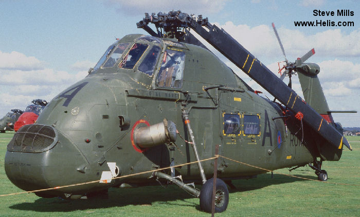 Helicopter Westland Wessex HU.5 Serial wa275 Register XT453 used by Fleet Air Arm (Royal Navy). Built 1965. Aircraft history