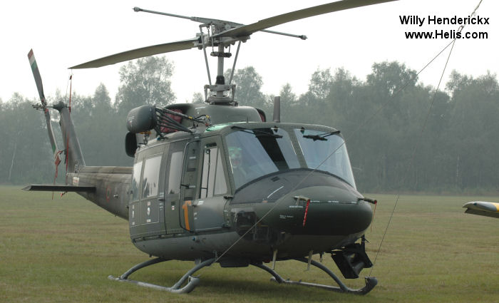 Helicopter Agusta AB212 ICO Serial 5805 Register MM81148 used by Aeronautica Militare Italiana AMI (Italian Air Force). Aircraft history and location