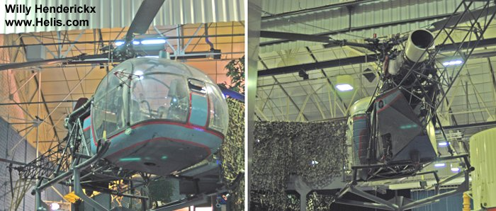 Helicopter Aerospatiale Alouette II Serial unknown Register . Aircraft history and location