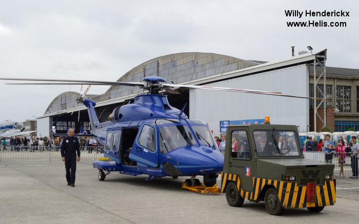 Helicopter AgustaWestland AW139 Serial 31267 Register PH-PXY I-EASH used by Politie Luchtvaart Dienst (Dutch Police Aviation) ,AgustaWestland Italy. Built 2009. Aircraft history and location
