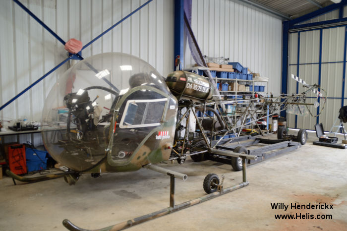 Helicopter Bell 47G-2 Serial 1458 Register 1458 F-BVXD used by Aviation Légère de l'Armée de Terre (French Army Light Aviation) PBHélicoptères. Aircraft history