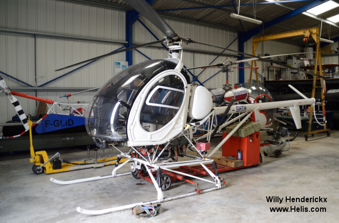 Helicopter Hughes 269C / 300 Serial 47-0586 Register F-GHTH N7484F used by PBHélicoptères. Aircraft history