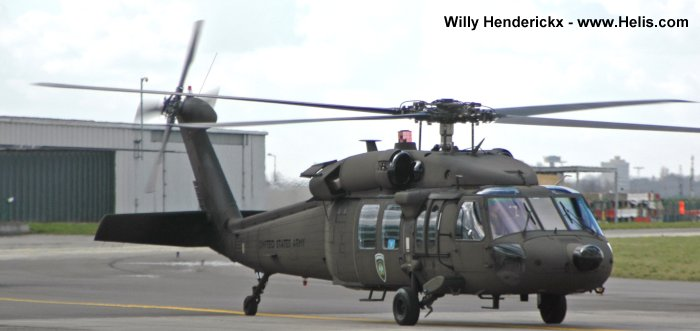 Helicopter Sikorsky UH-60A Black Hawk Serial 70-1088 Register 87-24583 used by US Army Aviation Army. Aircraft history and location