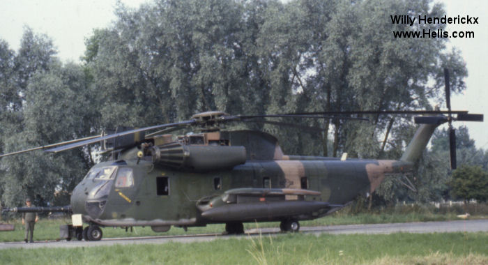 Helicopter Sikorsky HH-53C Serial 65-275 Register 69-5796 used by US Air Force. Aircraft history