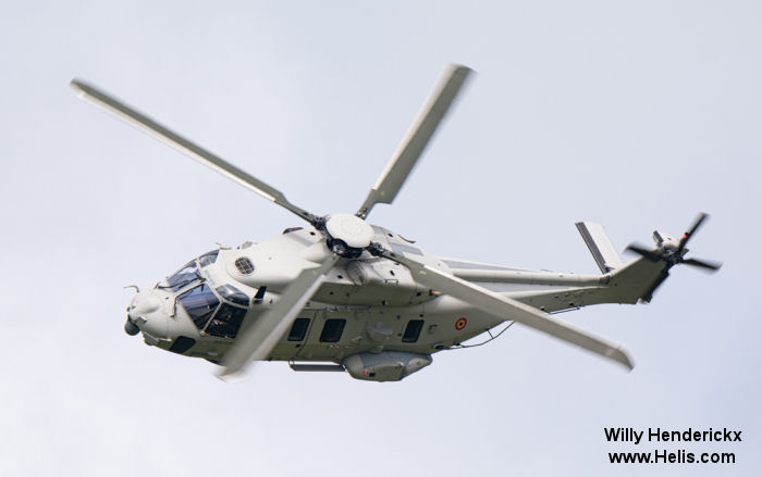 Helicopter NH Industries NH90 NFH Serial 1237 Register RN03 used by Force Aérienne Belge (Belgian Air Force). Aircraft history