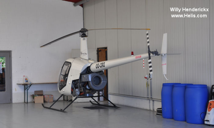 Helicopter Robinson R22 Beta Serial 1745 Register OO-CRO F-GHKK used by Best in Sky (best in sky). Built 1991. Aircraft history and location