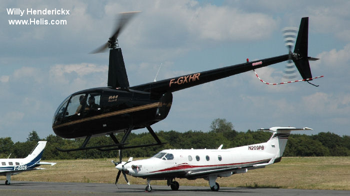 Helicopter Robinson R44 Raven II Serial 10329 Register F-GXHR G-SCAM EI-JAL. Built 2004. Aircraft history and location