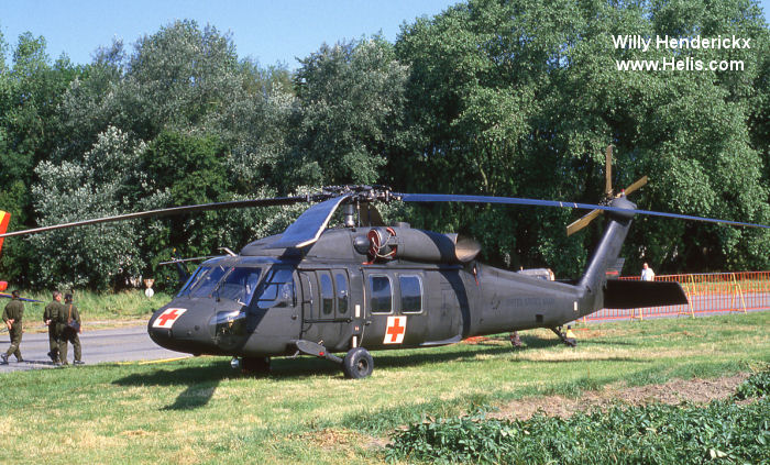 Helicopter Sikorsky UH-60A Black Hawk Serial 70-060 Register 621 78-22997 used by Heil Ha'Avir IAF (Israeli Air Force) ,US Army Aviation Army. Aircraft history and location