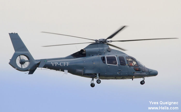 Helicopter Eurocopter EC155B1 Serial 6988 Register VP-CFF. Aircraft history