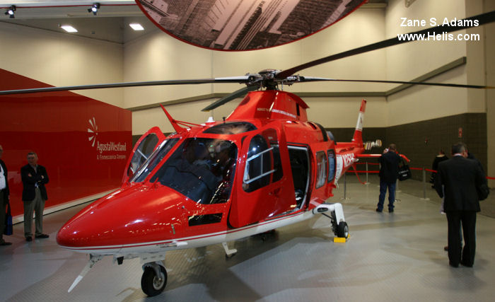 Helicopter AgustaWestland AW109SP GrandNew Serial 22221 Register N251HC used by State of Utah AgustaWestland Philadelphia (AgustaWestland USA). Built 2010. Aircraft history and location