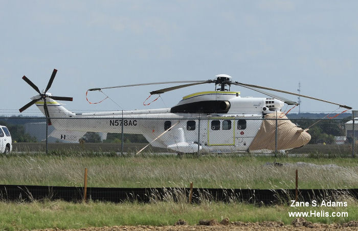 Helicopter Airbus Helicopters H215 / AS332C1e / AS332L1e Serial 2864 Register F-WWOV N578AC ZS-RTP used by Eurocopter France Air Center Helicopters Starlite Helicopters. Aircraft history